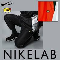 MEN'S NIKE NRG NIKELAB TN TUNED TRACK PANTS BLACK ORANGE WHITE TROUSERS AR5858