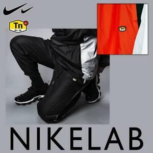 MEN'S NIKE NRG NIKELAB TN TUNED TRACK PANTS BLACK ORANGE WHITE TROUSERS AR5858