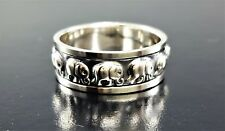 Mens Women Elephant Spinner Solid Sterling Silver 925 Jewelry Band Ring Sz 11