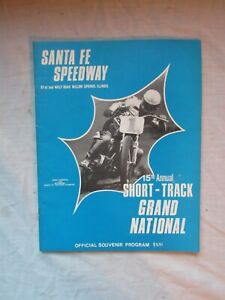 1975 Santa Fe Speedway Willow Springs IL Motorcycle Program AMA Grand National