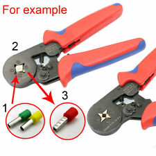 Self Adjusting Ratcheting Ferrule Crimper Plier HSC8 6-4A 0.25-6mm² AWG23-10