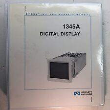 HP 1345A Digital Display Operating & Service Manual w/Options P/N 01345-90916