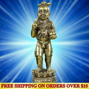 KUMAN THONG Baby Ghost Powerful Magic Thai Amulet Statue Charm Talisman Wealth