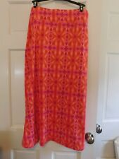 LAURA ASHLEY LONG WOMENS SKIRT 2X, EXCELLENT COND.PINKS/MULTI