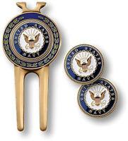 NEW U.S. Navy Golf Divot Tool and Ball Marker Set.