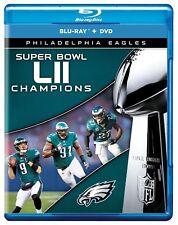 Philadelphia Eagles Super Bowl LII 52 NFL Football codefree Blu-ray + DVD