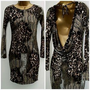 New Ladies Leopard Print Bodycon dress JANE NORMAN  RRP £32 SIZE 6 & 8