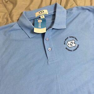 North Carolina Tar Heels NEW 2017 NCAA Championship Medium Polo Shirt Men's Blue