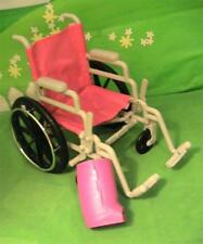 Wheel Chair and White Cast Set for 18 inch Dolls