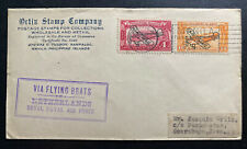 1935 Manila Philippines First Flight Airmail Cover FFC to Netherlands Indies