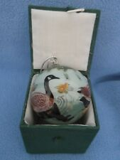 GEESE DESIGN GLASS ORNAMENT – HANDPAINTED FROM THE INSIDE