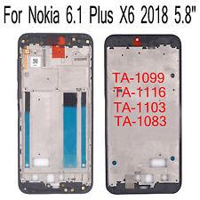 For Nokia 6.1 Plus X6 TA-1099 TA-1116 TA-1103 TA-1083 Housing Front Middle Frame