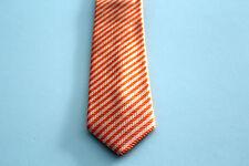 NEU Männer Herren Krawatte Binder Schlips Seide Länge 150 cm orange Streifen OVP