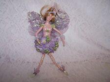 Christmas Fairy Sparkle Purple Wings Tree Ornament