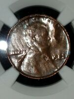 1982 Lincoln cent penny LG DT BRONZE 1C MINT ERROR Obverse Struck Thru Capped