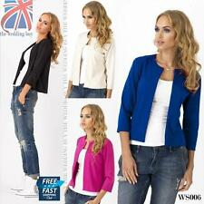 Patternless Synthetic Casual Coats & Jackets for Women