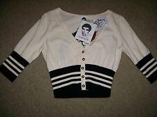 NWT Betsey Johnson  Punk Vintage Label Cropped Cardigan Sweater M