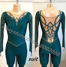 Rhythmic Gymnastics Unitard.Ice Figure Skating Dance Costume.Acrobatic Suit