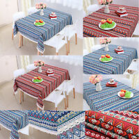 Table Cover Bohemian Rectangle Modern Tablecloth Cotton Linen Dining Table Cover