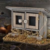 Kids Non-toxic Garden Miniature Chicken Coop Hen House for 1:12 Doll House Toy