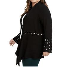 INC International Concepts Studded Cardigan Sweater (BLACK) (3X) $99.50 NWT