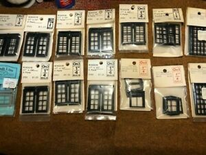 O scale assorted Grant Line windows for wood kits. New