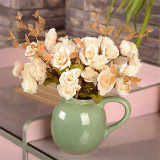 1x Bouquet Artificial Silk Flower Autumn Rose Home Office Wedding Party Decor