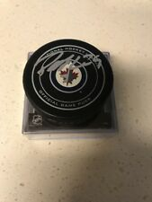 Patrick Laine Signed Winnipeg Jets Official  game Puck JSA Authenticated