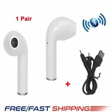 Pair Wireless Bluetooth Mini Headset Earphones For iPhone 6/6S/7/8 Android White