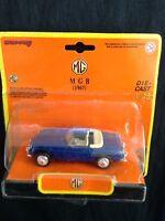 MG  MGB (1967) New-Ray 1.43 die-cast model 48772 Dark Blue  original packaging