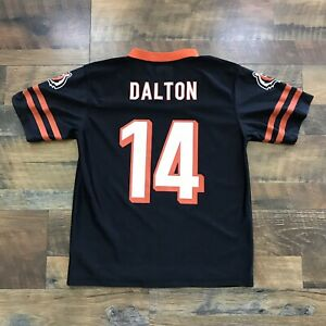 Andy Dalton Cincinnati Bengals #14 Black Jersey Size Youth Large