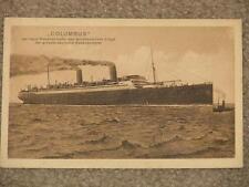 Riesendampfer- des Norddeutschen Loyd-Columbus, unused vintage card
