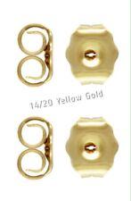 14k Gold Filled Earring Butterfly Backs Ear Nuts x2 Pr Small Stud/Drop Earrings