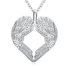 Schutzengel Kette/Anhänger Silber Engel Infinity Engeslrufer Glücksbringer Herz