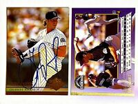 Greg W. Harris Signed 1994 Ultra #481 Card Colorado Rockies Auto Autograph