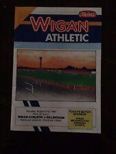 Wigan Athletic v Gillingham programme  1987/88