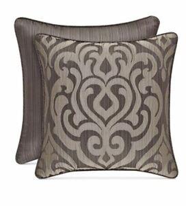 "J Queen New York Astoria 18"" X 18"" Square Decorative Pillow-Mink T4102017"