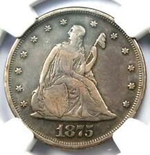 1875-P Twenty Cent Coin 20C - NGC VF Details - Rare Date 1875 Coin!