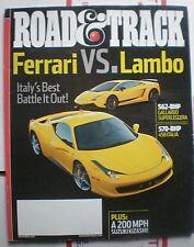Road & Track Magazine December 2010- Audi A7, Ferrari 458 Italia, Stillen 370Z