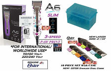 OSTER A6 PAWS ULTIMATE CLIPPER KIT&10 BLADE,S STEEL GUIDE COMB SET*WORLDWIDE USE