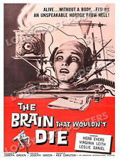 THE BRAIN THAT WOULDN'T DIE LOBBY CARD POSTER OS 1962