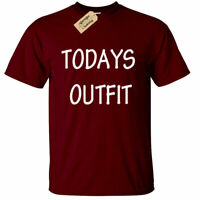 Todays Outfit T Shirt funny mens lazy novelty tee gift