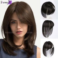 Women 100% Natural Human Hair Crown Hairpiece with Bangs Clip in Hair Extensions