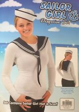 Woman's Navy Sailor Girl 2 Piece Dressing Up Outfit