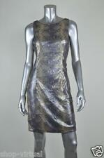 Betsy & Adam New Gold Gray Sequined Sheath Cocktail Night Dress MSRP $189 Size 8