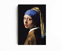 Girl With A Pearl Earring Art Reproduction, Canvas Print Home Decor, Wall Art