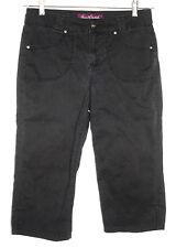 Gloria Vanderbilt Womens Size 8 Black Stretch Cropped Capri Clam Diggers Pants