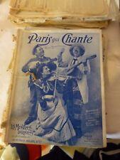 ancienne revue hebdomadaire PARIS QUI CHANTE partitions chants vintage