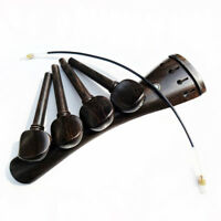 4/4 Cello Ebony Fitting Tailpiece Pegs String Parts +Tailgut Tail Endline