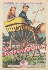 """8829) FILM """"UN UOMO TRANQUILLO"""" CON JOHN WAINE, REGIA JOHN FORD. VIAGGIATA."""